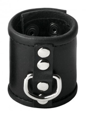Leather Ball Stretcher with Ring 2.5 inch wide