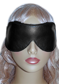 Classic Leather Fleece Lined Blindfold on