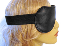 Side view of Classic Leather Blindfold