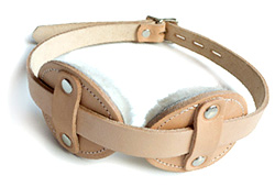New Tan Disc Blindfold Institutional Style