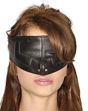 Leather Blindfold/Head Harness
