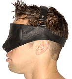 Leather Blidfold Head Harness side view
