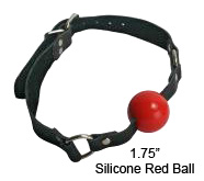 1.75 inches silicone ball gag