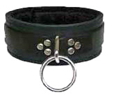 Black Fleece Lined Collar with Single o-Ring