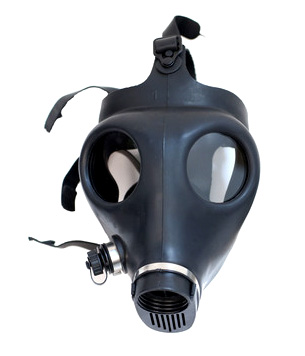 Black Rubber Gas Mask