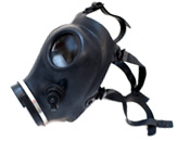 Black Rubber Gas Mask side