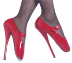 Red Mary Jane Ballet Heels