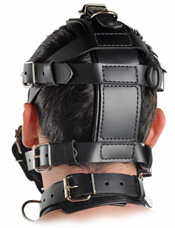 Back View of Black Leather Muzzle