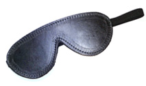 Classic Leather Fleece Lined Blindfold