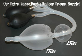 Bardex style double balloon enema nozzle extra large!