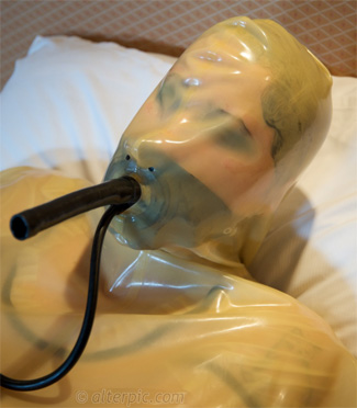 Anna Rose Alterpic.com with Inflatable Latex Gag w/ Breath Tube