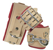 Leather Medical Bondage Restraints Cuffs and Collar