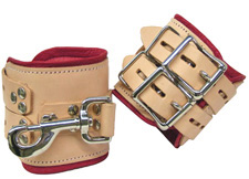 Medical Bondage Wrists Leather Cuffs