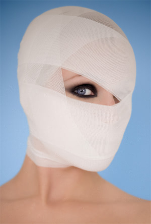 Mummy Bandage Wrapped Face