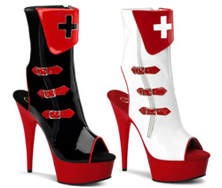 Nurse Ankle Booties Open Toe and Back