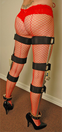 Nurse Cindy in Leg Braces