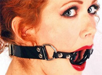 O-Ring Gag with Leather Lockable Straps