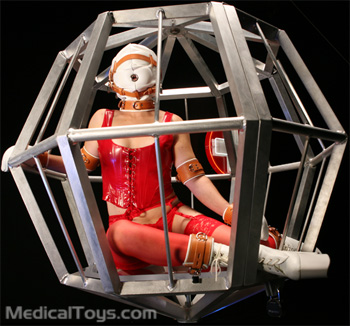 Octo-Cage in Insitutional Sensory Deprivation Hood