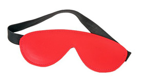 Red Leather Blindfold