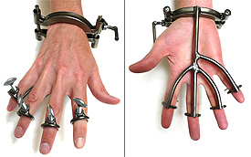 Steel Finger and Hand Restraints