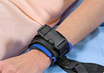 Wrist ER Cuffs on a patient